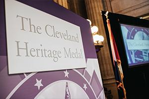 Cleveland Heritage Medal board